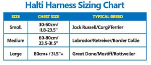 Halti Harness Sizing Chart