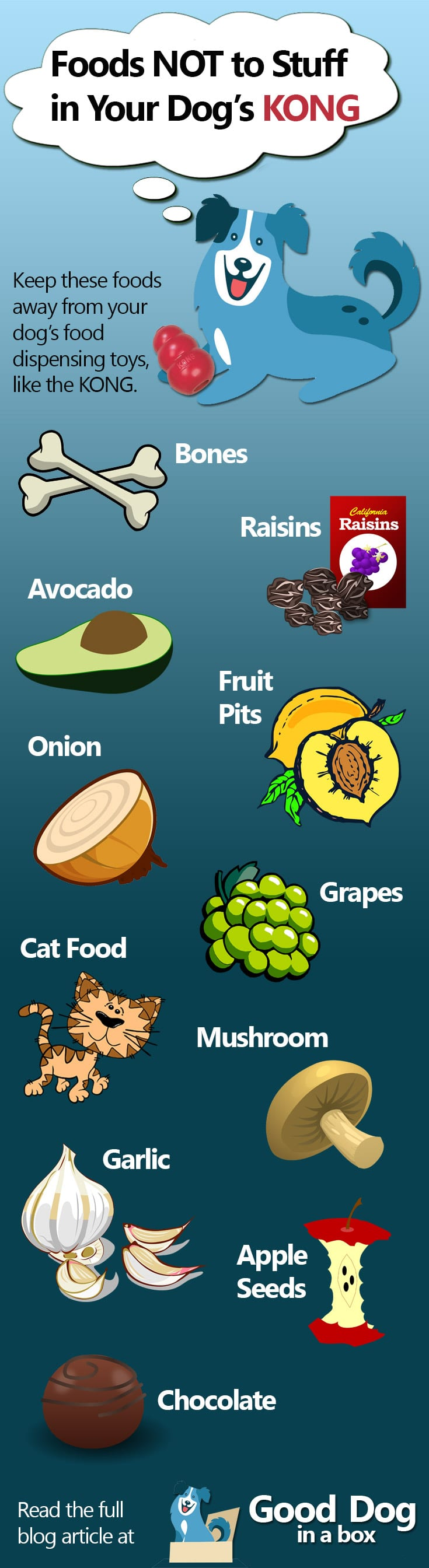 Foods Not to Stuff in Your Dog's Kong Infographic