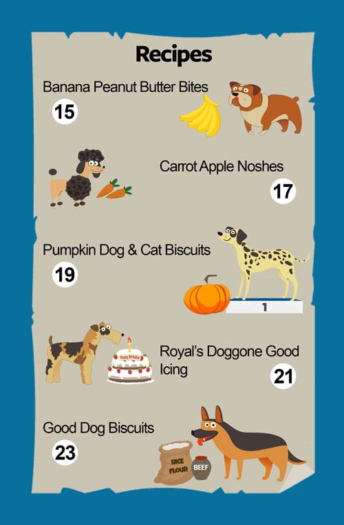 Doggone Good Dog Treat Cookbook Table of Contents 2
