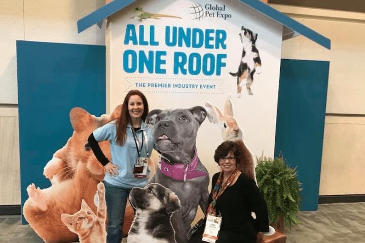 Kim Butler and Jodi Clock at Global Pet Expo 2018