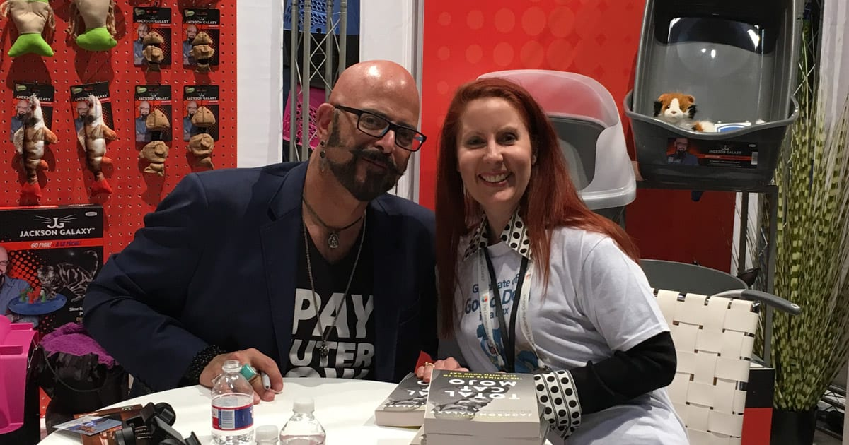Jackson Galaxy & Kim Butler at Global Pet Expo 2018