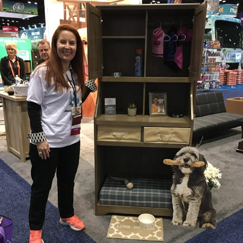 Kim Butler with Sauder Pet Armoire