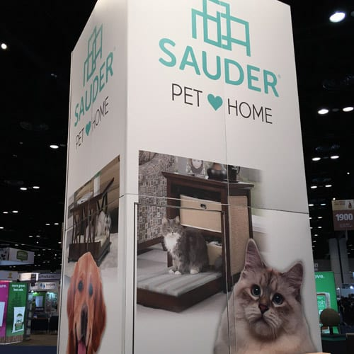 Sauder Pet Furniture at Global Pet Expo