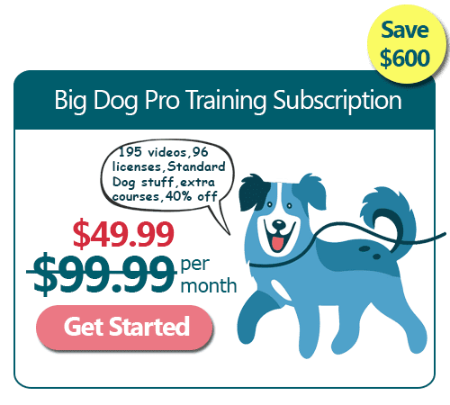 Big Dog Training Pro Monthly Subscription 50% Off