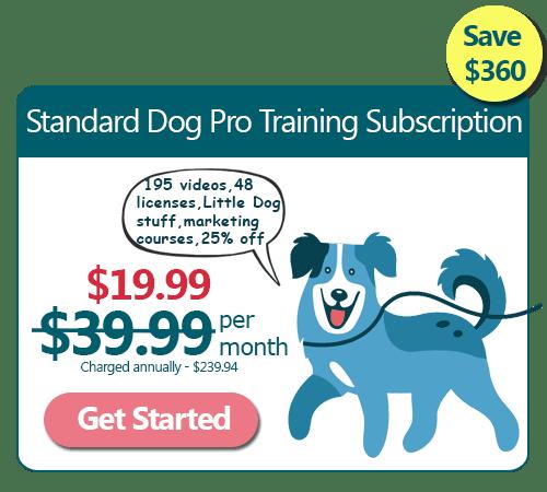 Standard Dog Training Subscription