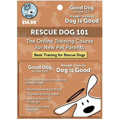 Dog Is Good Rescue Dog 101 Online Dog Training