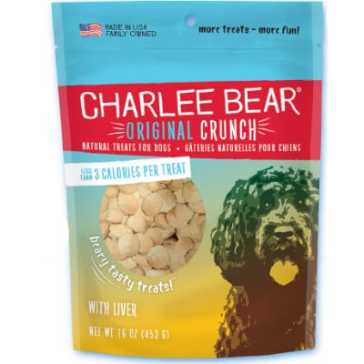 Charlee Bear Original Crunch Dog Treats Liver