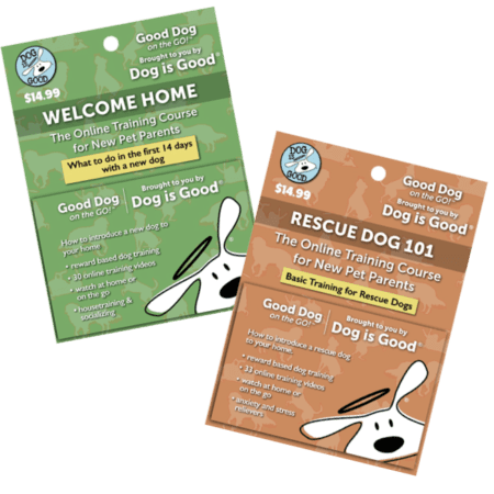 Welcome Home & Rescue Dog Training Card Set