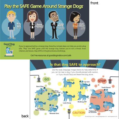 General Public Adults Dog Bite Prevention Postcard